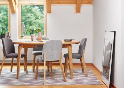 1 PAGED 2 stół ARGO krzesło DOT