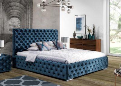 2 NEW ELEGANCE łóżko tapicerowane 1 HAVANA