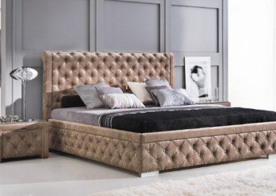 2 NEW ELEGANCE łóżko tapicerowane 12 ROMA
