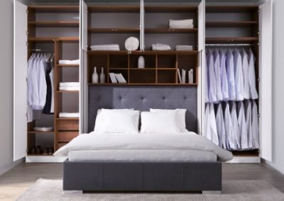 2 NEW ELEGANCE łóżko tapicerowane SYSTEM SLEEP VARIA SZAFA