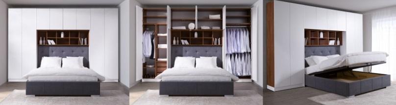 2 NEW ELEGANCE łóżko tapicerowane SYSTEM SLEEP VARIA