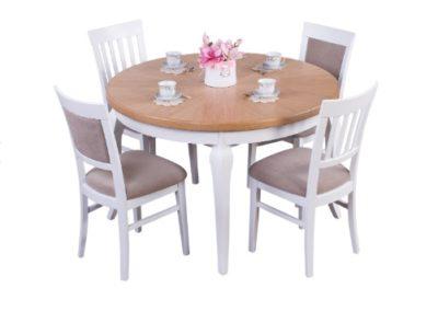 2 POTOCKI MEBLE 4 stół OKRĄGŁY krzesło TERESA
