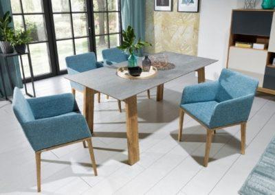 3 MEBLE NOVA 2 stół STONE krzesło MAVI