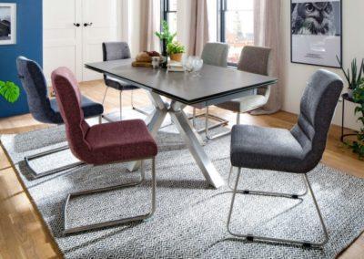 5 MC AKCENT 15 stół NAGANO krzesła MONTENERA