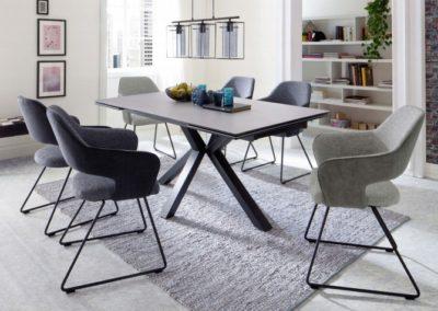 5 MC AKCENT 16 stół NAGANO krzesła NEWCASTLE