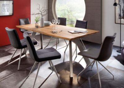 5 MC AKCENT 2 stół MILTON krzesła ALESSIA