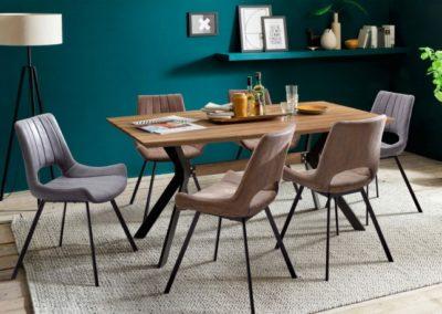 5 MC AKCENT 22 stół ELIOT krzesła OLYMPIA
