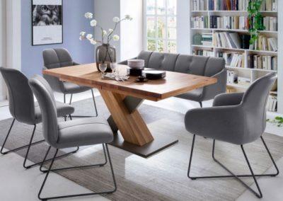 5 MC AKCENT 7 stół MENDOZA krzesła TESSERA